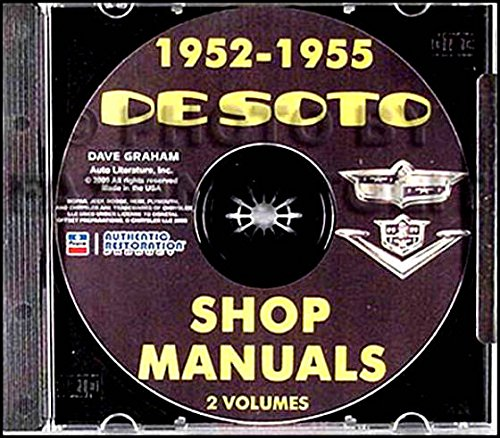 THE ABSOLUTE BEST, COMPLETE 1952 1953 1954 1955 DeSOTO REPAIR SHOP & SERVICE MANUAL & BODY MANUAL CD FOR Firedome S-16, Powermaster S-18, sedan, club coupe, S-19, S-20, S-21, S-22, ()