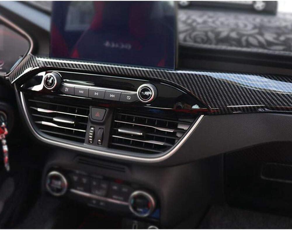 QQKLP Carbon Fiber Interior Mouldings Fit for Ford Focus 2019 ABS Inner Door Armrest Window Lift Button Cover Trim,PART 1