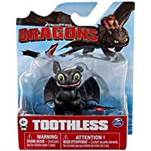 Dreamworks Dragons Toothless (Sitting and Smiling) Mini Figure 2 Inches