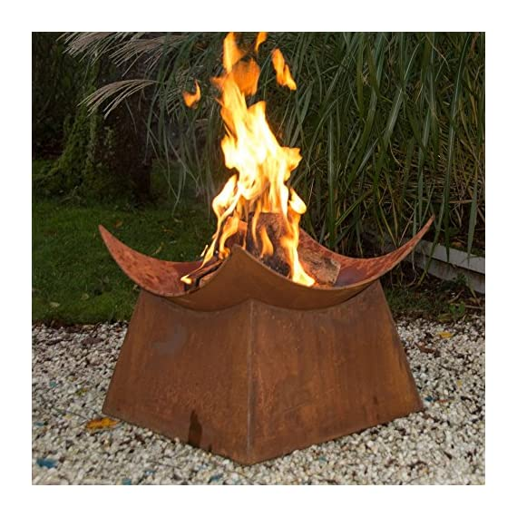 Esschert Design Wood Burning Fire Bowl - Dimensions: 19L x 19W x 15H in. Includes fire bowl and square base Wood burning - patio, outdoor-decor, fire-pits-outdoor-fireplaces - 61Ytnfvj3fL. SS570  -