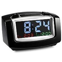 INLIFE Réveil électronique Grand écran LCD,Affichage Date,température,Fonction Snooze,Mode en Veille …