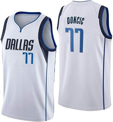 Camiseta de Baloncesto para Hombre, Dallas Mavericks 77 Doncic ...