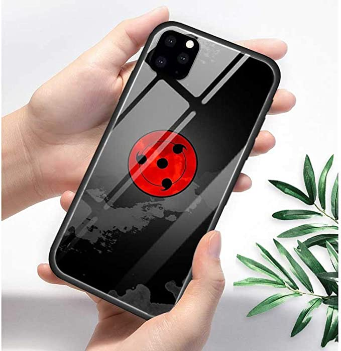 Amazon.com: Tempered Glass Phone Case for iPhone 11 11Pro 11 Pro Max 6 6S 7 8 Plus X XR Xs Max Anime Naruto Kakashi Itachi Akatsuki Print Silicone Frame Back Cover Coque (7, iPhone 11): Computers & Accessories