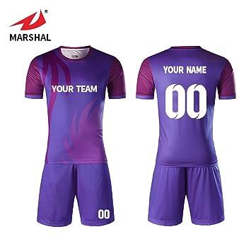 8126d0be1 ZHOUKA Custom soccer jersey football team clothes breathable set football  shirt soccer uniform jersey (Purple