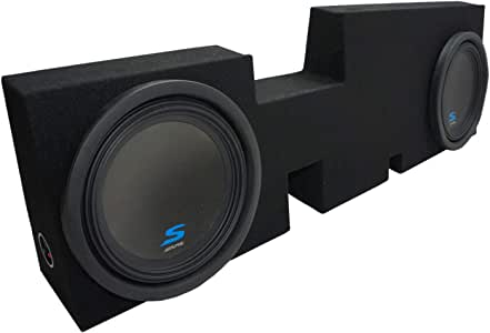 "Compatible with 2017 2018 2019 Ford F250 Super Crew Truck Alpine S-W12D2 Type S Car Audio Subwoofers Custom Dual 12"" Sub Box Enclosure Package"
