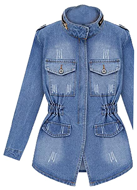 3882aae0fa95e Beloved Women s Retro Slim Fit Cotton Denim Jacket at Amazon Women s Coats  Shop