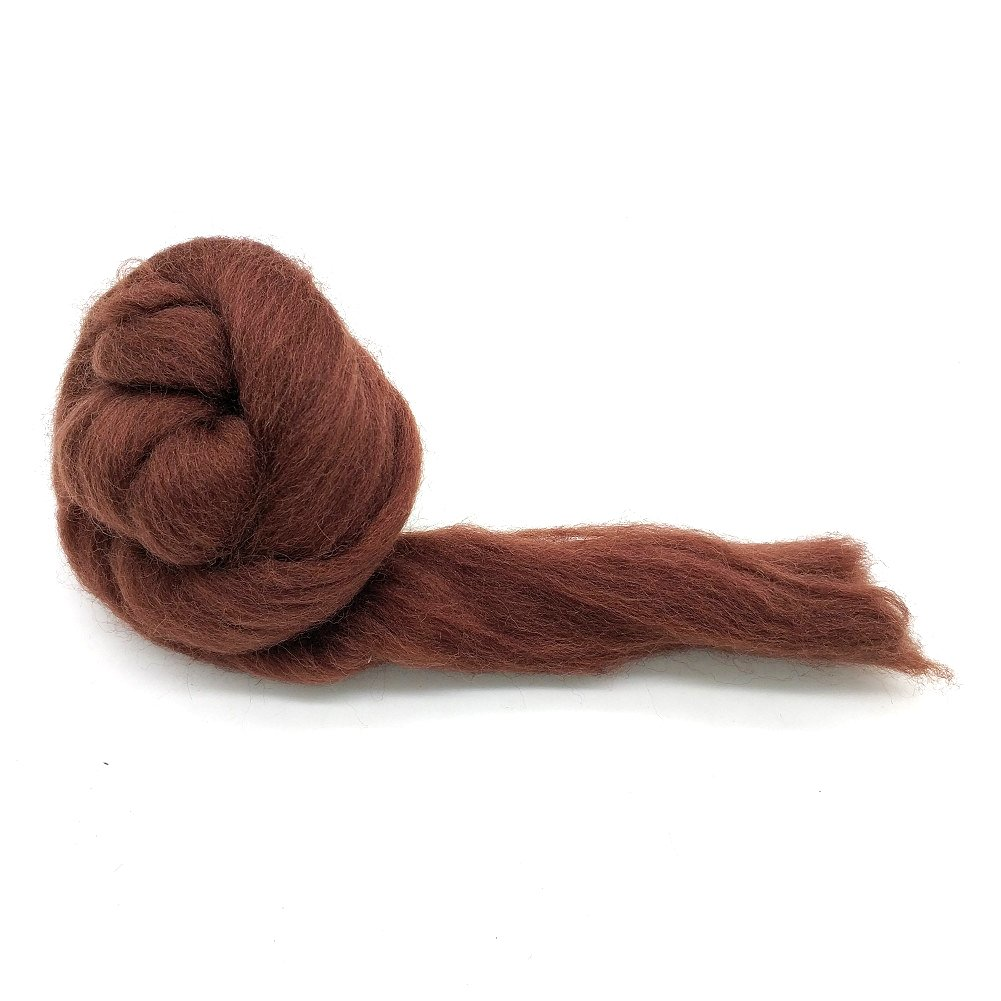 Artec360 Needle Felting Wool Roving 3.5 Ounce Merino 70s Grade Super Soft Wholesale Wool Top Roving Fiber for Happy Felter 7