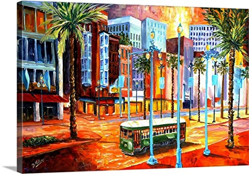 Diane Millsap Premium Thick-Wrap Canvas Wall Art Print entitled New Orleans' Canal Street - Street New Orleans In Canal