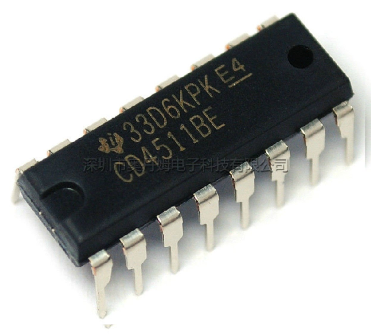 Exiron 100pcs CD4511 CD4511BE 4511 CMOS BCD to 7 segment Latch Decoder IC