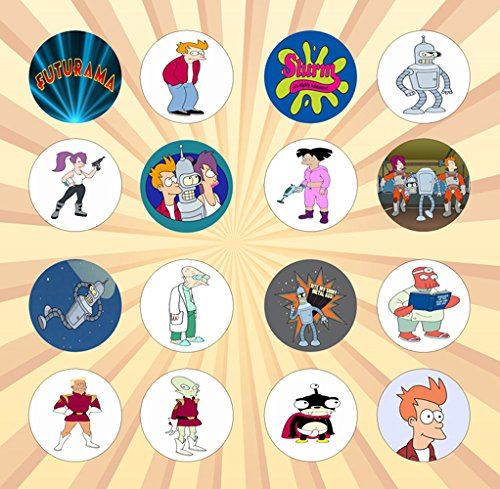 [Futurama Set of 16 - 1 Inch Pinback Buttons] (Futurama Leela Costumes)