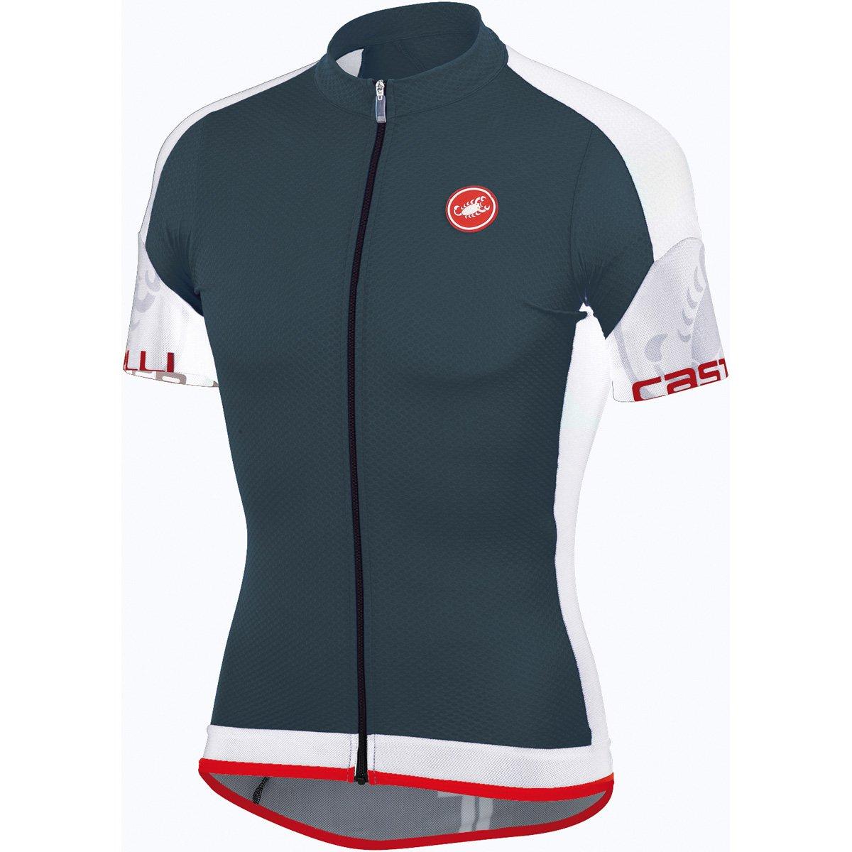 Amazon.com   Castelli 2015 Men s Entrada Full Zip Short Sleeve Cycling  Jersey - A14017 (turbulence white - S)   Sports   Outdoors 4b67fc523