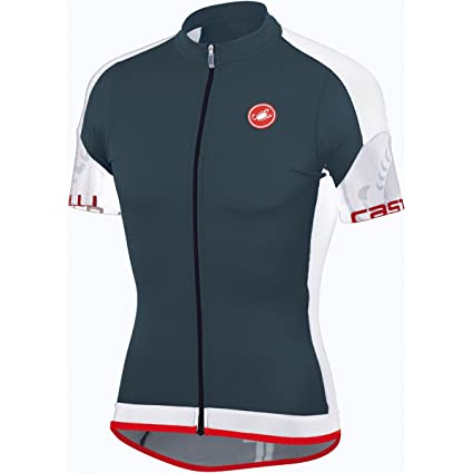 714ea8cf7 Castelli 2015 Men s Entrada Full Zip Short Sleeve Cycling Jersey - A14017  (turbulence white