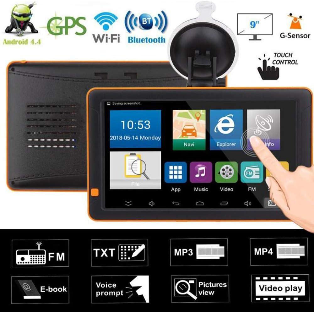 Wenhu GPS 9 Pulgadas Coche navegador GPS Bluetooth WiFi androide FM visión Nocturna AV IN + 512M 16G Nav Camión Navegadores GPS del vehículo automóvil: Amazon.es: Deportes y aire libre
