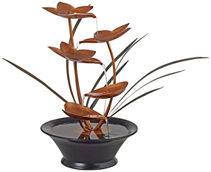 Ordinaire Bloomfield Copper Flower 13u0026quot; High Tabletop Fountain