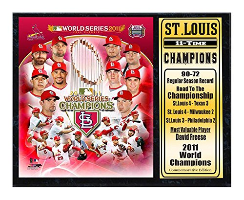 Encore Select 520-38 MLB St. Louis Cardinals 2011 World Series Champion Plaque, 12-Inch by (St Louis Cardinals World Series Champions)