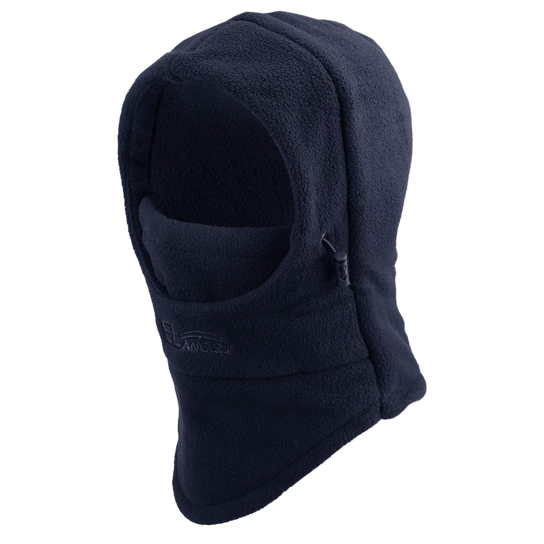 4 Pieces Kids Balaclava Hat Polar Fleece Winter Ski Mask Double Warmer Face Cap