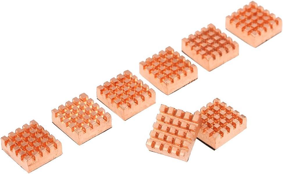Lechnical Cooling Copper Heatsink Cooler for VGA GPU DDR DDR2 DDR3 DDR4 RAM Memory IC Chipset Cooling 8pcs//Set