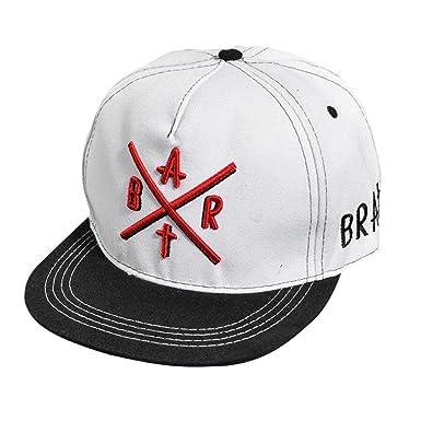 Ecosin® Fashion Embroidery Snapback Boy Hiphop Hat Adjustable Baseball Cap  Unisex (White) 0c0c056c75