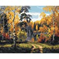Tutu Vivi Frame Diy Oil Painting Paint By Number Kit 16x20 Inch Linen Canvas Without Frame Late Autumn