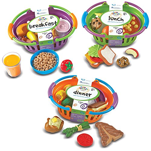 Basket Dinner Play Foods (Learning Resources New Sprouts Bundle of Breakfast, Lunch and Dinner, 3 Sets, Ages 2+)