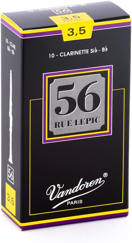 Vandoren CR5035 Bb Clarinet 56 Rue Lepic Reeds Strength 3.5; Box of 10