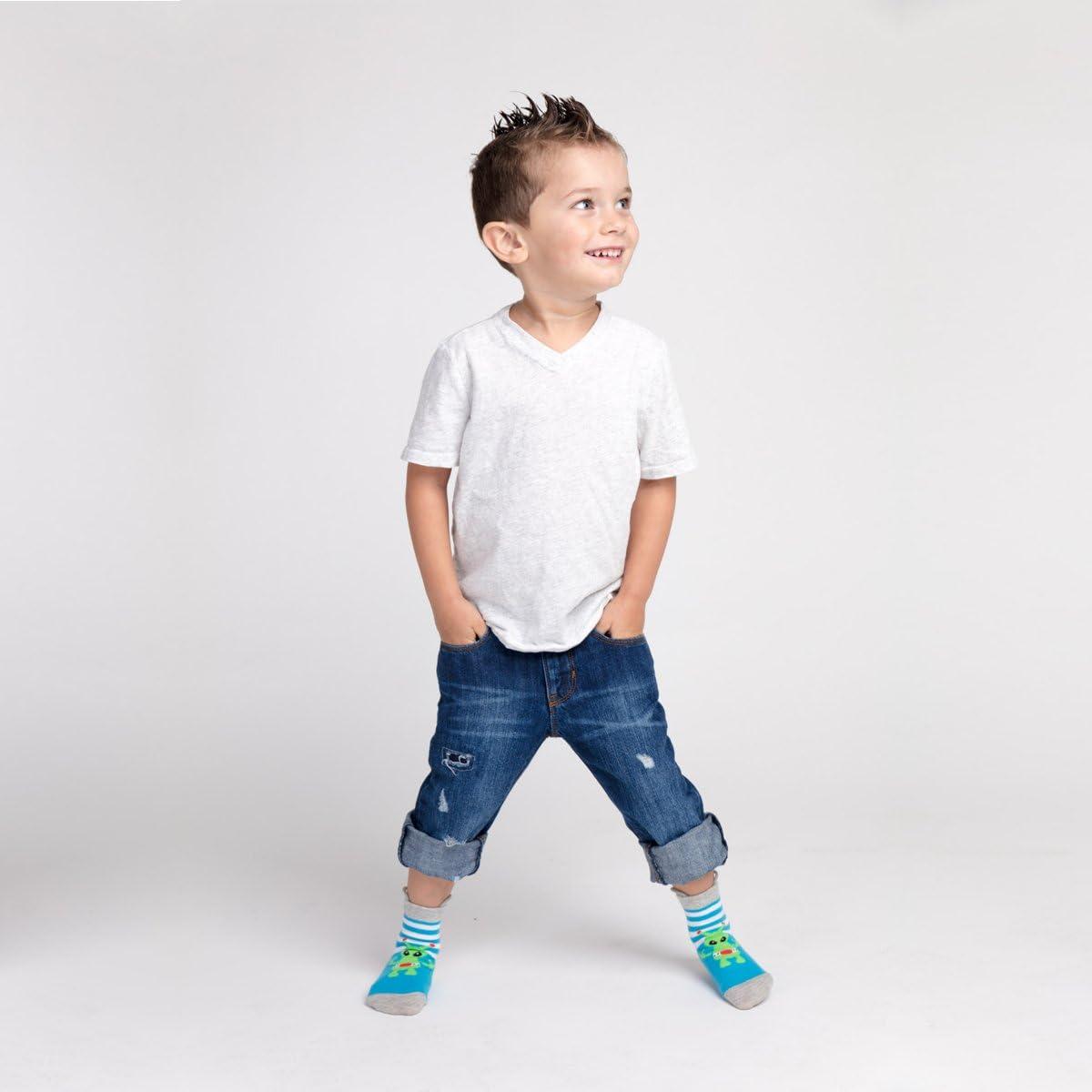 tira hacia arriba Ez Sox Calcetines de ni/ños y ni/ñas con puntera sin costura y sin deslizamiento