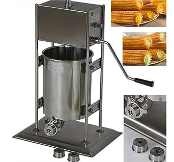 Mochila Manual churro máquina eléctrica de acero inoxidable churro eléctrica español Churros Panificadora CE