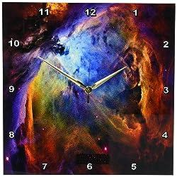 3dRose dpp_76783_2 Galaxy and Nebula-Orion Nebula Space Galaxy-Wall Clock, 13 by 13-Inch