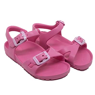 Amazon.com: Pimpolho bebé Ultra ligero EVA sandalias, Rosado ...