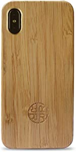 Zen Garden Bamboo Case Compatible with iPhone - Natural Eco-Friendly Design (Bamboo, iPhone Xs)