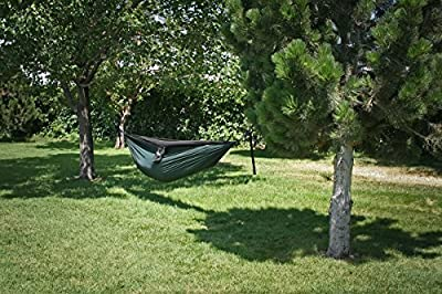 Hobo Hammocks Double Camping Hammock (Straps Included) - Portable Parachute Nylon