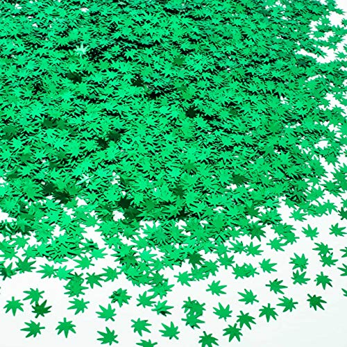 Rolybag 22 Grams Green Weed Leaf Cosmetic Glitter Festival Body Art Decoration Makeup Nail Body (Green)