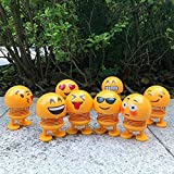 H M Enterprise Emoji/Smiley Spring Doll,Cute Emoji for Car Dashboard Bounce Toys,Emoticon Figure Funny Smiley Face Springs Car Decoration for Car Interior Dashboard Expression BobbleHead (1)