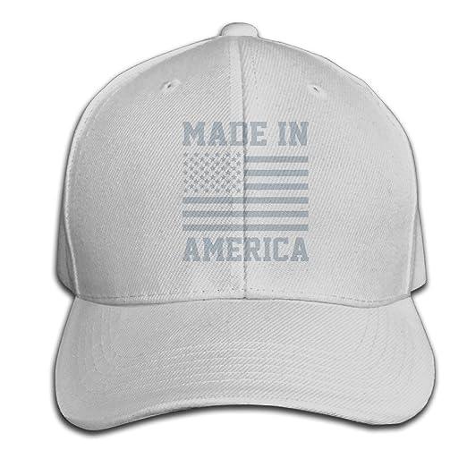Amazon.com  CSYSMZ MADE IN AMERICA USA Military Pride Merica Flag Baseball  Cap Unisex Fishing Caps Peaked Hats Ash  Clothing 01782f20846e