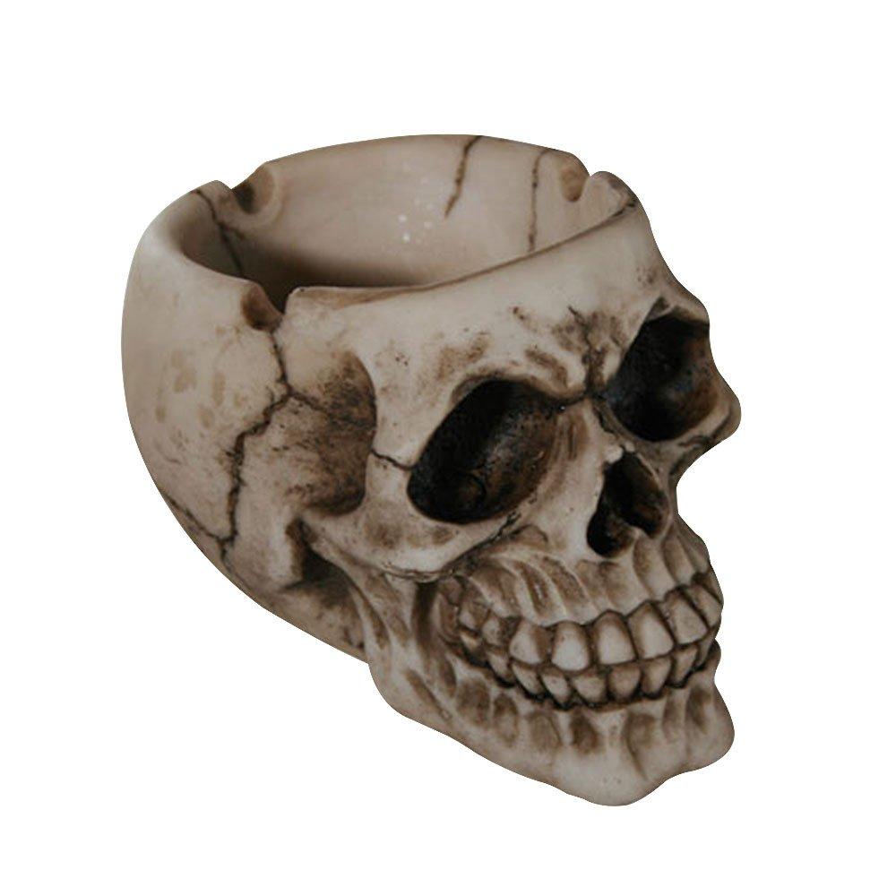 com-four® Cenicero cráneo, Aproximadamente 12 cm (01 Pieza - Naturaleza del cráneo)