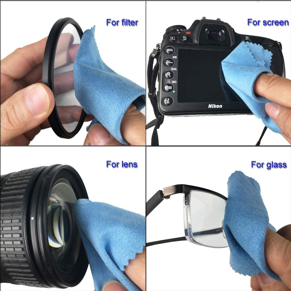 12 Pack SIOTI Soft Micro Cleaning Cloth Cleaning Glasses,Camera Lenses,Pad,Phones,LCD Screens Other Delicate Surfaces