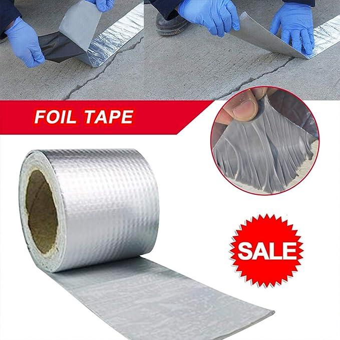Super Strong Waterproof Tape Butyl Seal Aluminum Foil Magic Repair Adhesive Tape