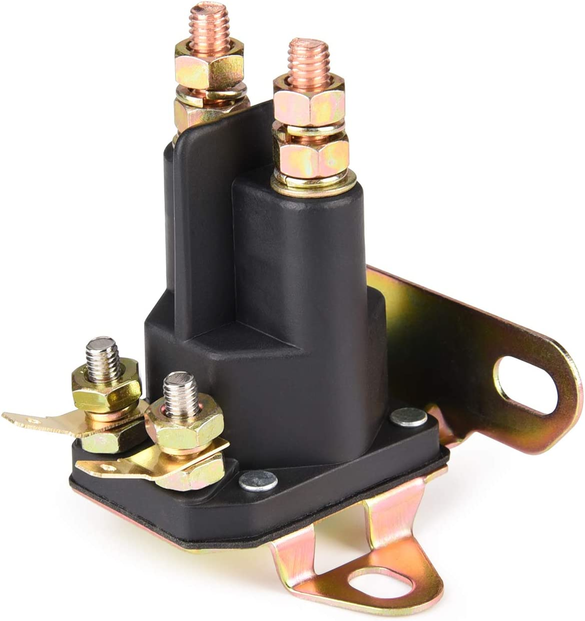 MaySpare 4 Pole Starter Solenoid Replaces Briggs & Stratton 5410K,Cub Cadet, Craftsman, Husqvarna 109946 MTD,Mower AM133094 AM138497, John Deere L100 L110 L118 L120 L130