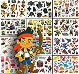 Foxjoy Temporary Tattoos for Kids Premium Edition, 250 Designs, 12 Sheets, 6x4 inches (Boys)