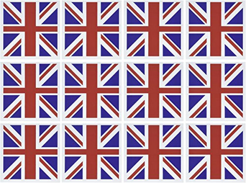 3dRose Union Jack Old British Naval Flag - Greeting Cards, 6 x 6 inches, set of 12 (gc_62560_2) (British Thank You Cards compare prices)