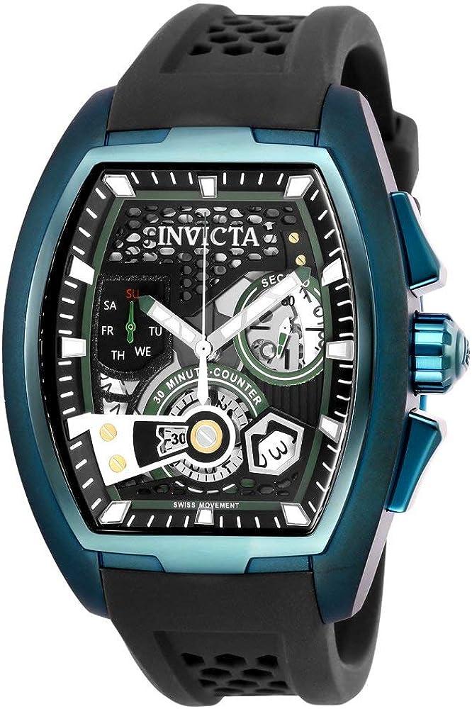 Invicta Men s S1 Rally Stainless Steel Quartz Watch with Silicone Strap, Dark Grey, 22 Model 25942