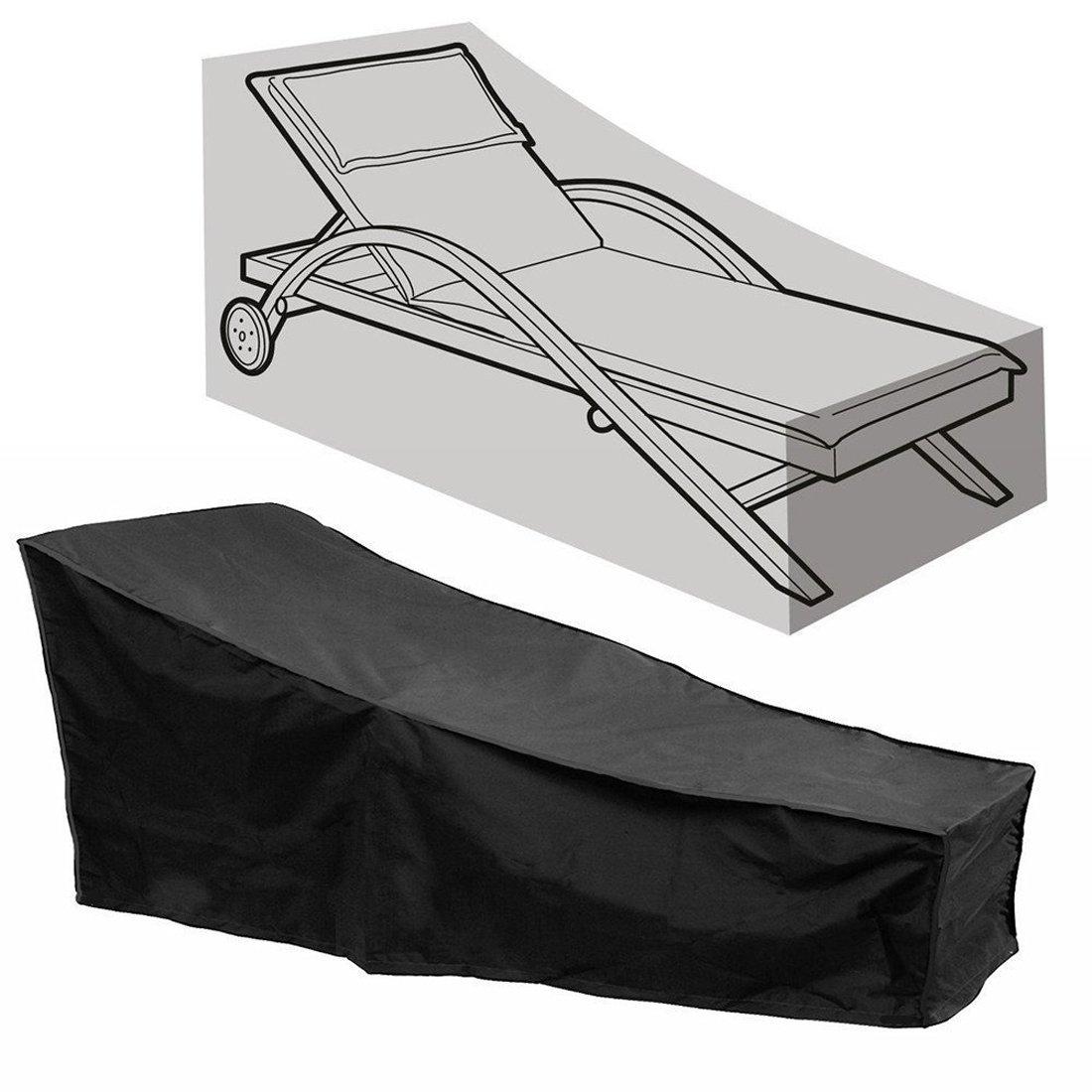 Comfysail Housse pour Chaise Longue B/âche de Protection Chaise Longue ext/érieur /étanche Jardin Anti-UV imperm/éable avec Sac de Rangement