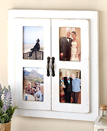Amazon.com - The Lakeside Collection Rustic Window Collage Frame ...