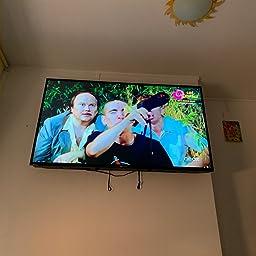 Eono by Amazon - Soporte TV Pared Fijo, Soporte de Televisión para la Mayoría de los 26-55 Pulgadas LED, LCD, OLED y Plasma Televisores hasta VESA 400x400mm y 45,5kg, con Tacos Fischer,