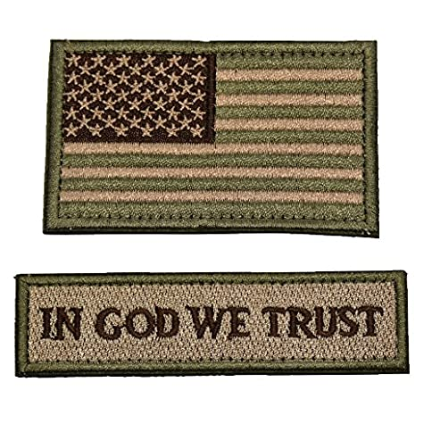 - 61Yu 0YsZkL - Tactical Morale Patch USA Flag Don't Tread On Me In God We Trust (Multitan(USA FLAG+IN GOD WE TRUST))
