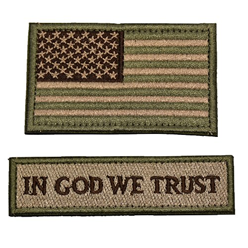 - Tactical Morale Patch USA Flag Don't Tread On Me In God We Trust (Multitan(USA FLAG+IN GOD WE TRUST))
