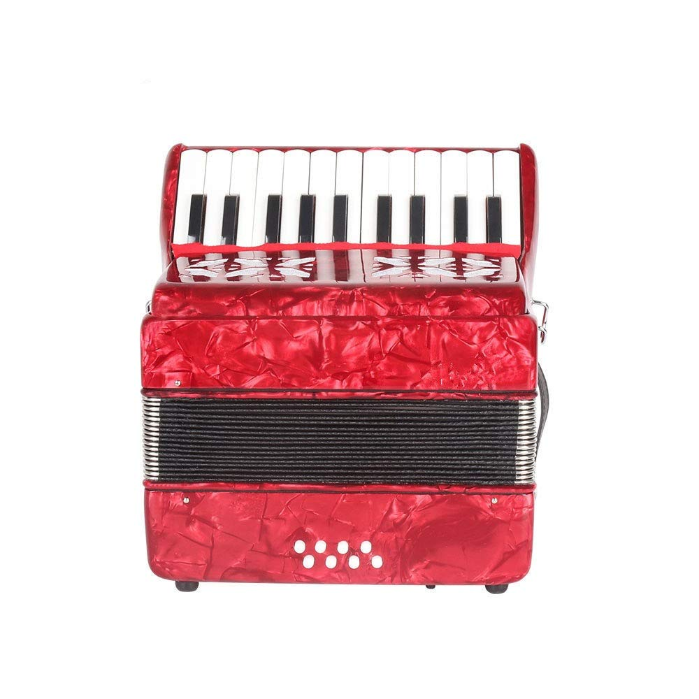 Accordion, High Grade Professional Beginners Students Adults Accordion With Shoulder Strap Gloves 22 Keys 8 Bass Kids Music Accordion Instruments Educational Band Musical Toys Children's Gift Musical
