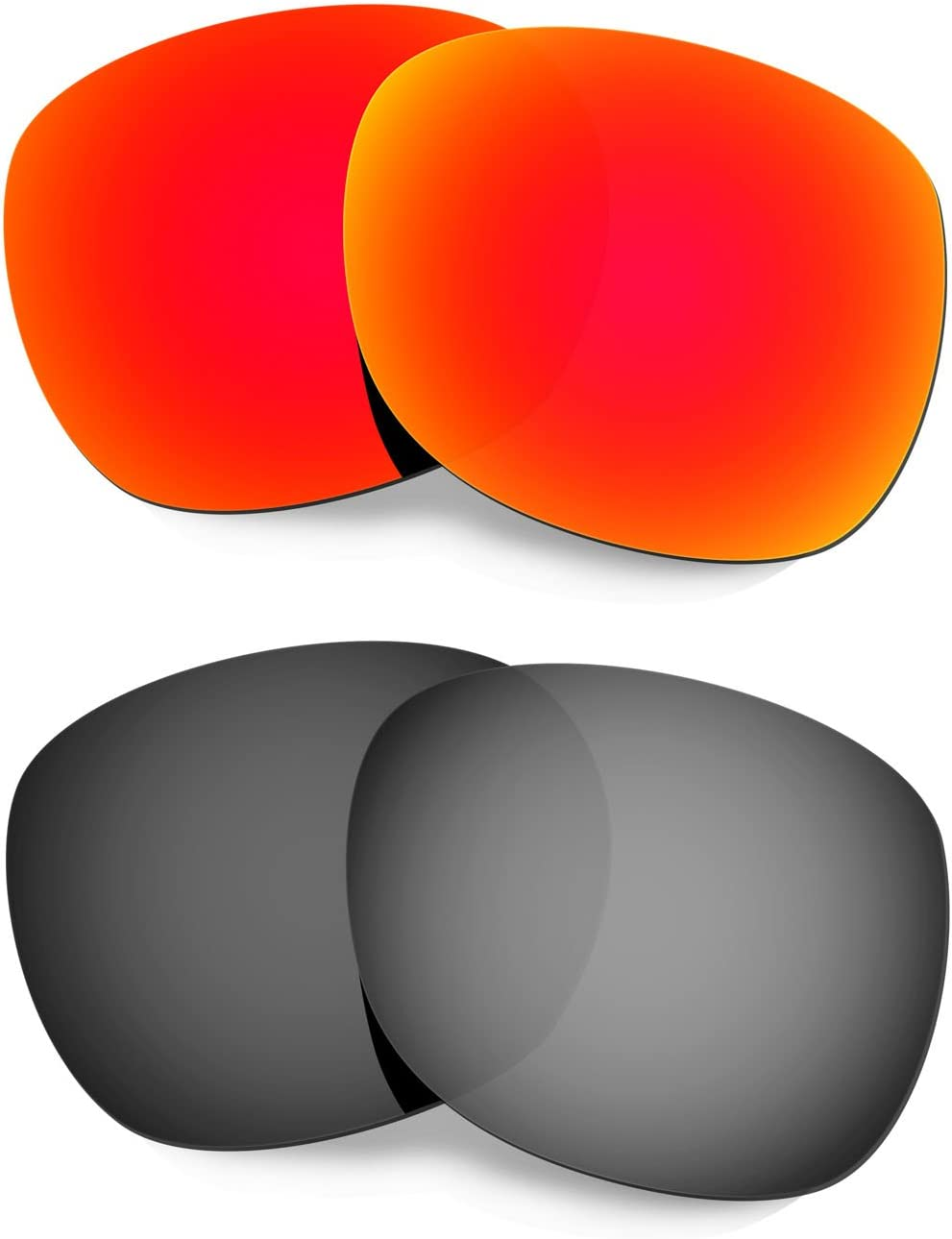 HKUCO Mens Replacement Lenses for Oakley Garage Rock Sunglasses Red/Black