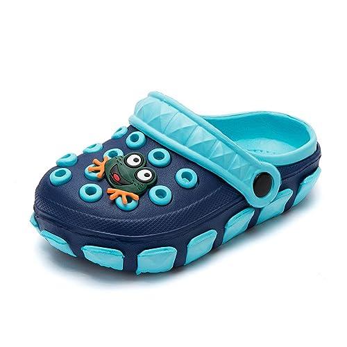 e91079efd Zuecos Unisex Niños Sandalias de Playa Antideslizante Respirable Piscina  Jardín Zapatos Abierta de Verano Chanclas  Amazon.es  Zapatos y complementos