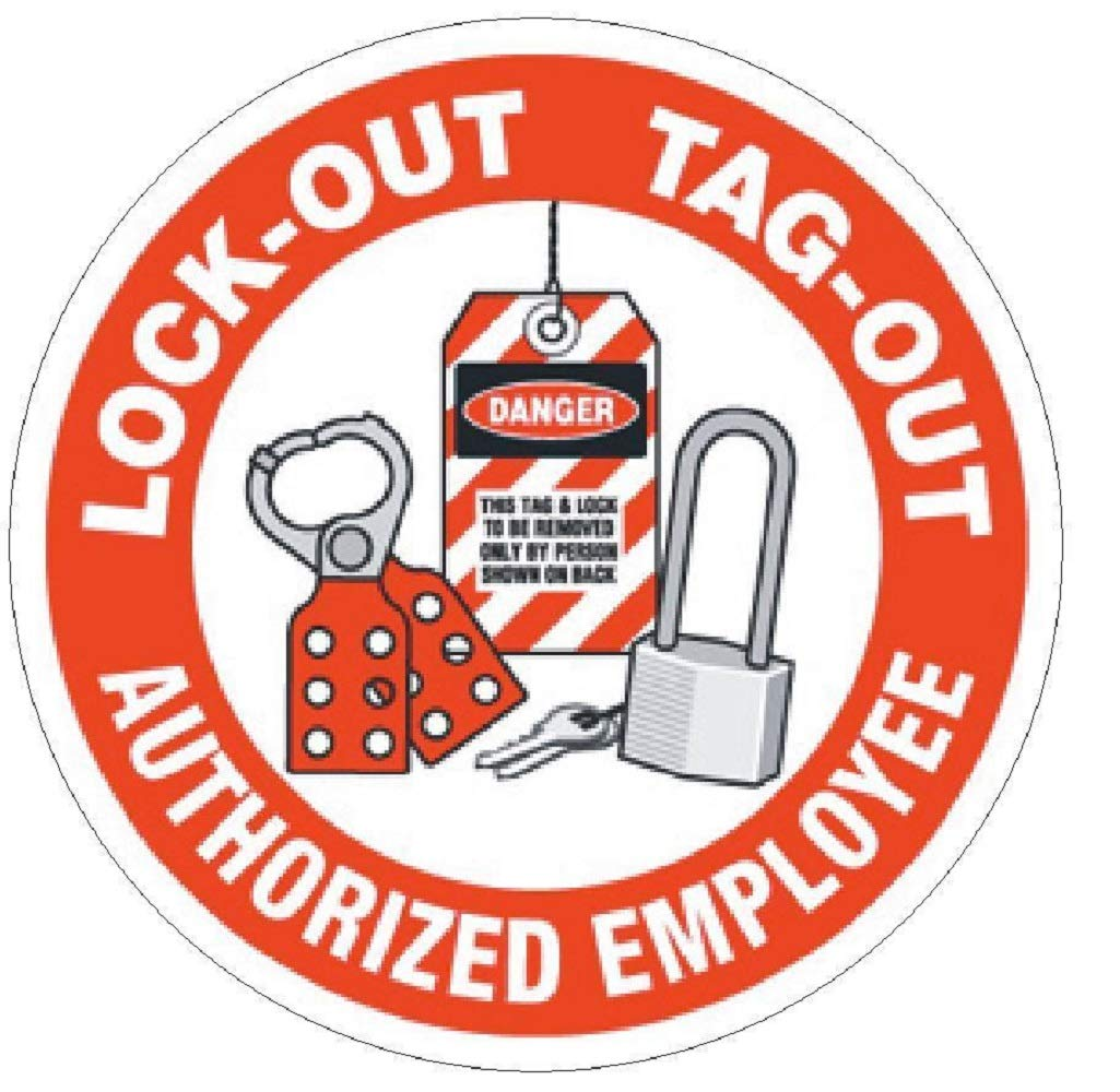 manda_ol 100 Pack 2'' inches Lock Out Tag Out Authorized Hard Hat Decal Hard Hat Sticker Helmet Safety